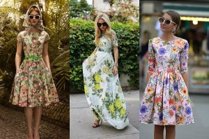 Sukienki w kwiaty na wiosnę  - najpiękniejsze modele