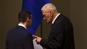 Premier Mateusz Morawiecki z ojcem Kornelem Morawieckim