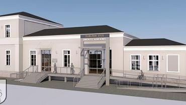 Wizualizacja odremontowanego gmachu dworca w Choszcznie