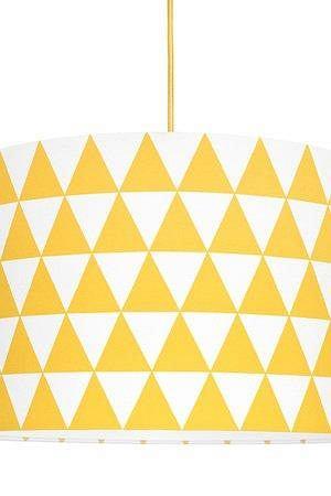 Lampa sufitowa trójkąty żółte