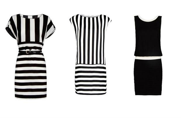 Sukienki biało-czarne
