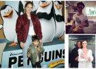 """Doutzen Kroes zabra�a syna na premier� filmu """"Pingwiny z Madagaskaru"""", a Behati Prinsloo przebiera m�a w swoje ubrania..."""