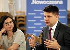 Kamila Gasiuk-Pihowicz i Ryszard Petru w Sejmie podczas zorganizowanych przez Nowoczesną konsultacji społecznych