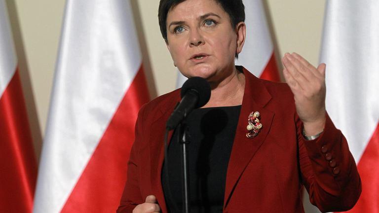 Premier Beata Szydło po rozmowach z lekarzami