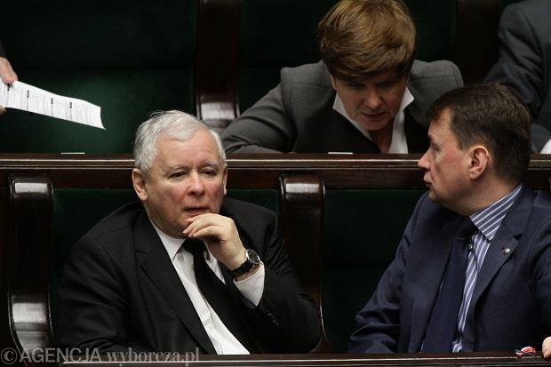 Jarosław Kaczyński w ławach sejmowych