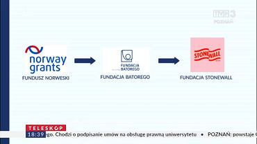 Materiał TVP Poznań o finansowaniu organizatorów Marszu Równości
