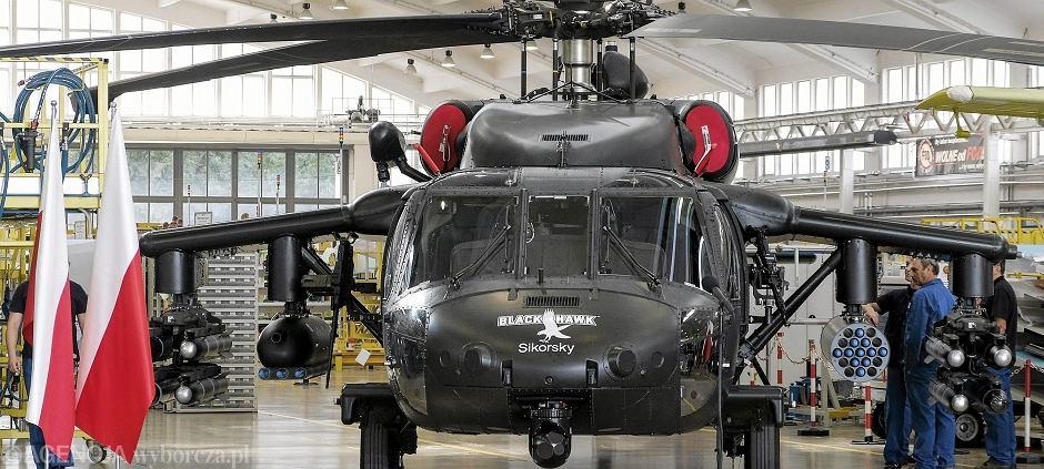 Śmigłowiec Black Hawk w zakładach PZL Mielec