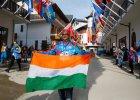 Soczi 2014. Flaga Indii wywieszona w wiosce olimpijskiej
