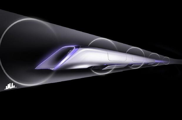 Projekt pojazdu Hyperloop - kapsuła poruszająca się w tunelu