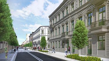 Tak ma wyglądać ulica Wschodnia po przebudowie (wizualizacja).