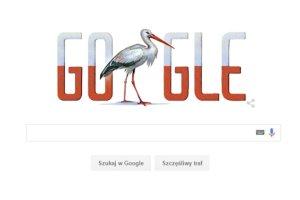 Narodowy Dzień Niepodległości, a w Google Doodle zamiast orła... bocian