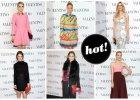 Gwiazdy w kolorowych stylizacjach na pokazie Valentino Haute Couture w Nowym Jorku: Olivia Palermo, Sofia Coppola, Karolina Kurkova, Katie Holmes i inni
