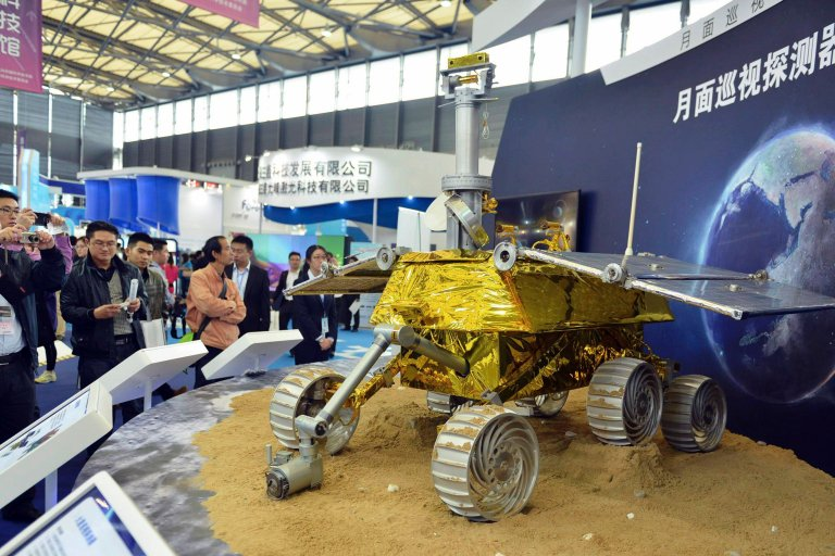 Model łazika zaprezentowany w Chinach