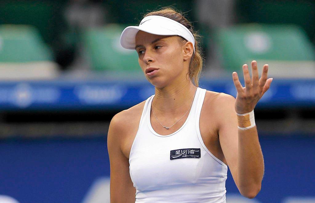 Zdjęcie numer 3 w galerii - WTA Tiencin. Magda Linette walczyła, ale przegrała z Marią Szarapową