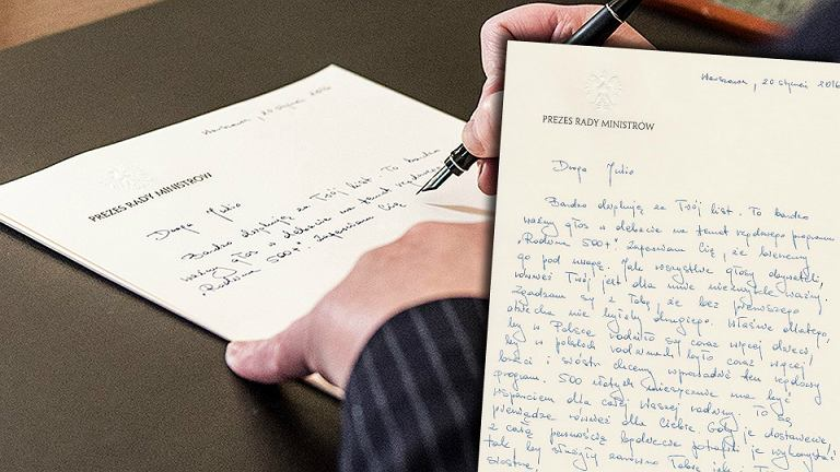 Beata Szydło odpowiada na list 9-latki