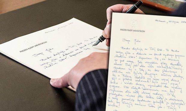 Beata Szyd�o odpowiada na list 9-latki