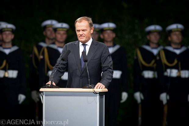 """Tusk o Ukrainie na Westerplatte: """"To jest wojna. Przemoc� nie robi si� polityki"""""""