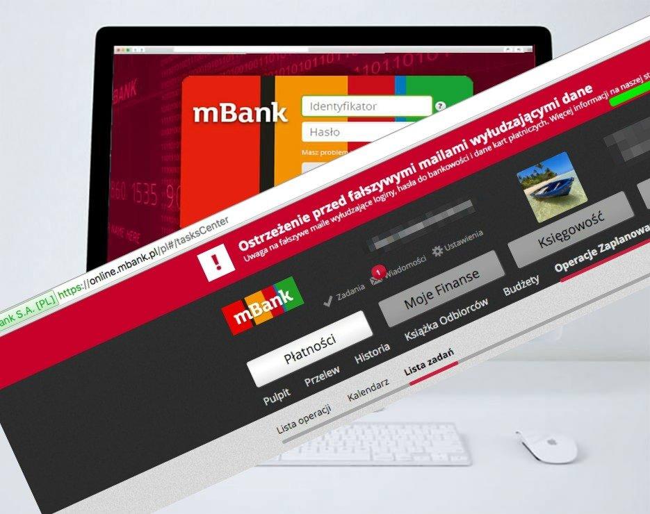 Zdjęcie numer 1 w galerii - Kolejna fala ataków na klientów mBanku. Groźny wirus wykrada dane