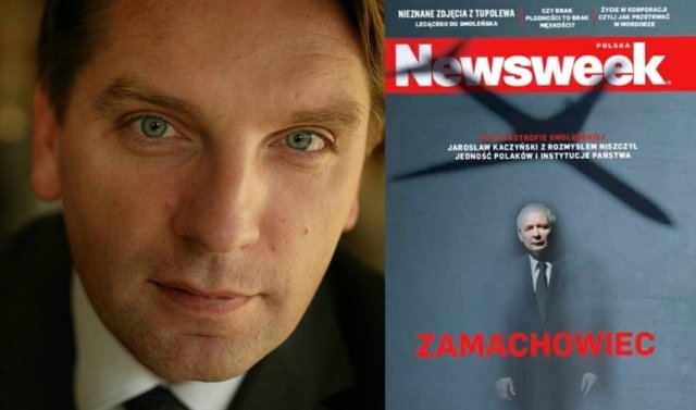 Tomasz Lis i okładka ''Newsweeka''