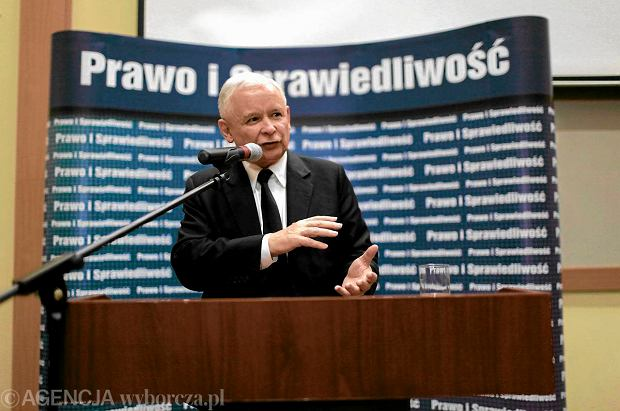 Prezes Prawa i Sprawiedliwo�ci Jaros�aw Kaczy�ski