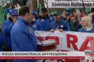 Manifestacja OPZZ ws. wy�szych p�ac w bud�et�wce. List do Ewy Kopacz