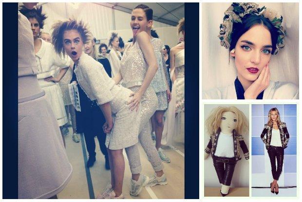 Cara Delevingne bawi si� za kulisami pokazu Chanel, a Anja Rubik zach�ca do udzia�u w charytatywnej aukcji, czyli prywatne zdj�cia modelek z minionego tygodnia
