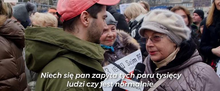 """Czarny Piątek w Warszawie. """"Pierwszy raz mnie zmusili do wyjścia na ulice"""""""