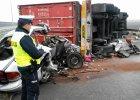 Pięć ofiar wypadku na autostradzie A1 pod Włocławkiem [ZDJĘCIA]