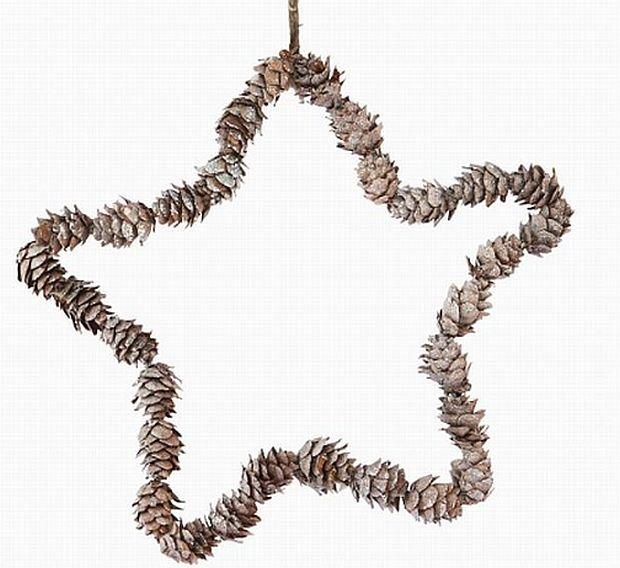 Ozdoby świąteczne, dekoracje bożonarodzeniowe, szyszki ,