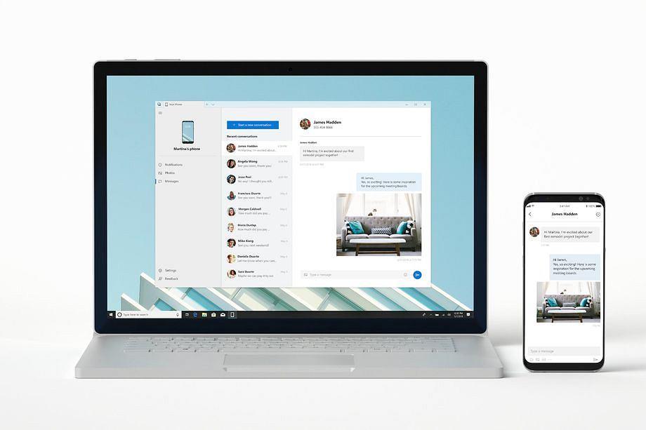 Aplikacja Your Phone dla Windows 10