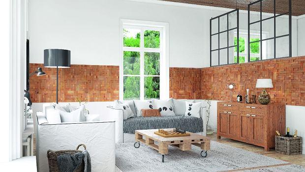Ściany, meble, podłoga... Drewno ma tę zaletę, że jego różne gatunki (nawet pochodzące z odległych stron świata) zwykle do siebie pasują. CUBE, panele drewniane, 34,3 x 34,3 cm, gr. 7-13 mm 21 zł/szt. Stegu