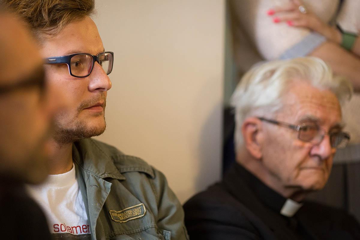 Błażej Strzelczyk i ks. Adam Boniecki (fot. Adam Walanus)