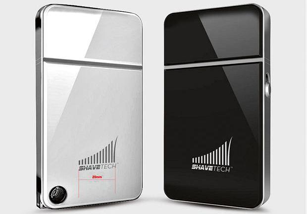 ShaveTech - golarka wyglądająca jak telefon Apple'a. Cena: 40 dol.
