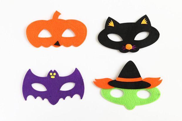 Te maski wykonano z filcu, ale podobne bez problemu zrobisz z brystolu.