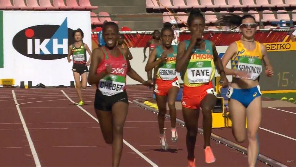 Mistrzostwa Świata U20 w Tempere. Bieg na dystansie 5000 metrów.