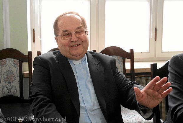 Ojciec Tadeusz Rydzyk podczas obrad Komisji Odpowiedzialności Konstytucyjnej. Warszawa, Sejm, 3 kwietnia 2013
