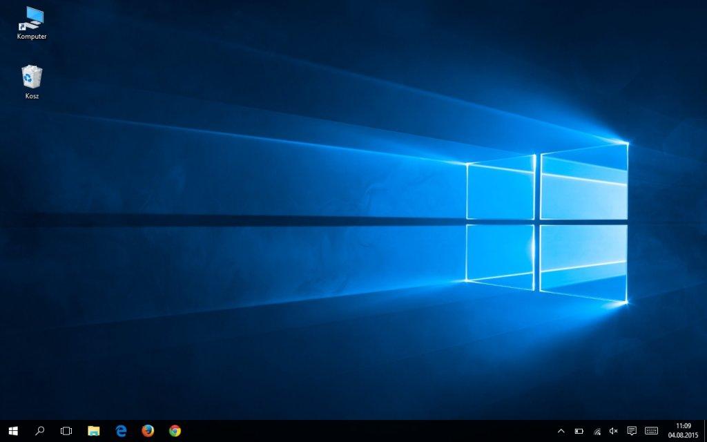Pulpit w trybie desktopowym w Windows 10