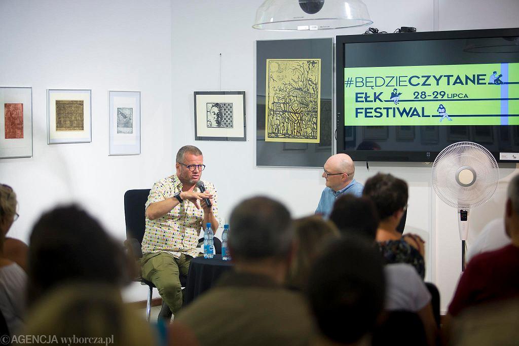 Marcin Meller na spotkaniu z czytelnikami na festiwalu #bedzieczytane w Ełku / RENATA DĄBROWSKA