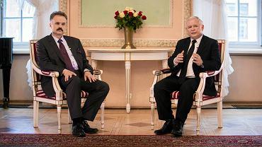 Prezes PiS Jarosław Kaczynski i Waldemar Paruch w Trybunale Koronnym. Lublin, 3 maja 2014