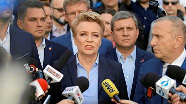 Hanna Zdanowska i Grzegorz Schetyna po oświadczeniu wojewody łódzkiego