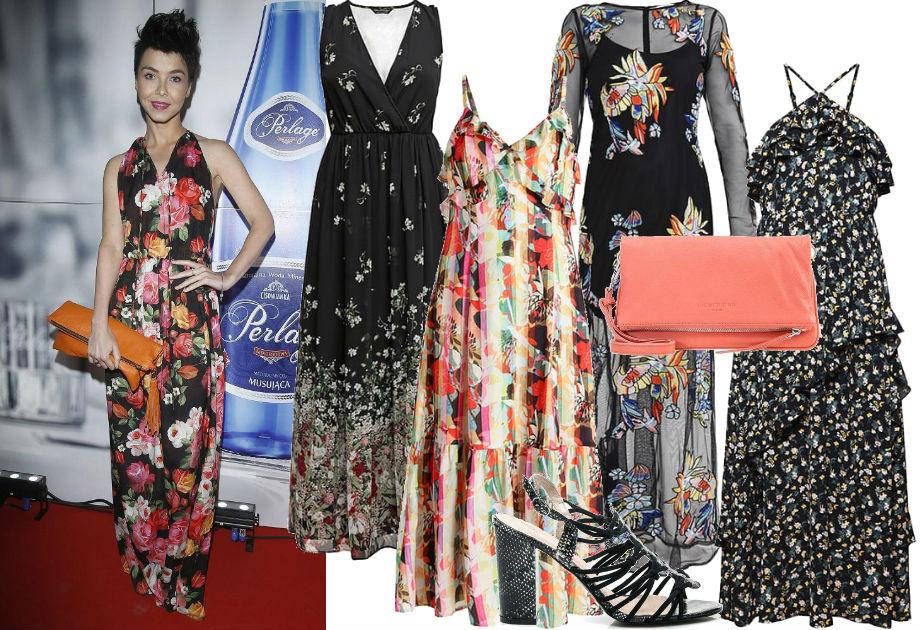 Paulina Drażba - stylizacja długa sukienka