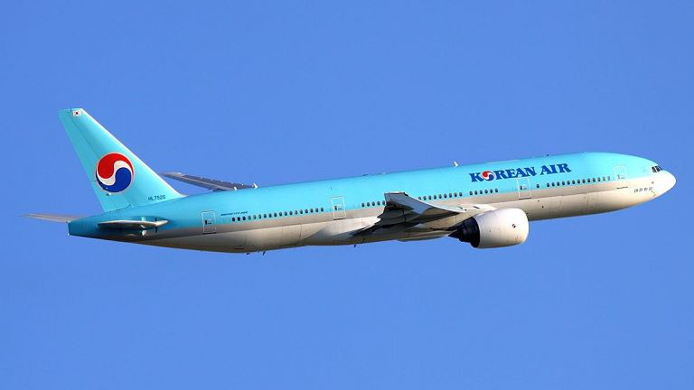 Boeing 777 należący do Korean Air