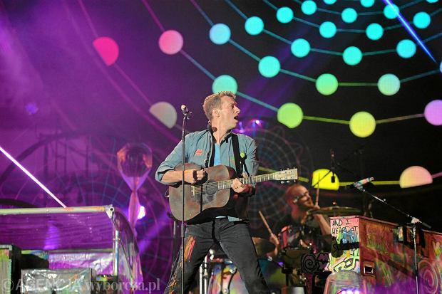Coldplay na Stadionie Narodowym w Warszawie w 2012 r.