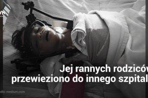 Dziewczynka złamała kręgosłup w wypadku drogowym. W szpitalu okazało się, że nie ma z nią rodziców