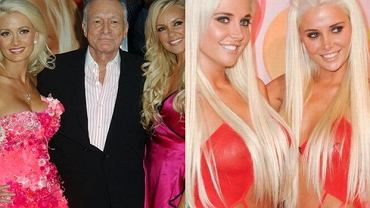 Holly Madison, Hugh Hefner, Bridget Marquardt, Kristina i Karissa Shannon.