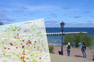 Molo w Gdyni Orłowie / mapa zanieczyszczeń powietrza w Polsce