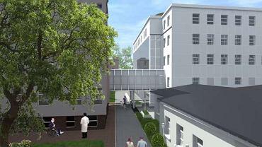 Wizualizacja rozbudowy szpitala WAM