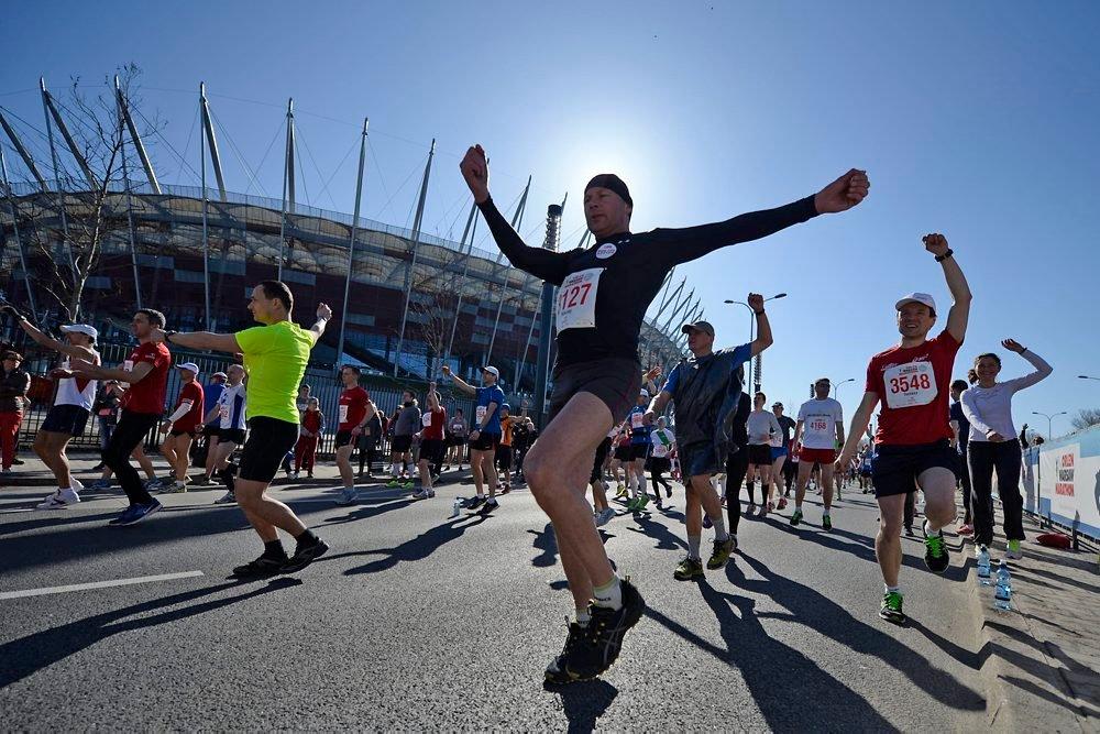 Rozgrzewka przed startem, Orlen Warsaw Marathon