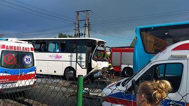 Wypadek autokarów