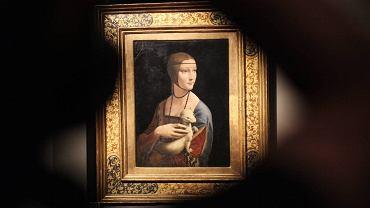 "Obraz Leonarda da Vinci ""Dama z gronostajem"""
